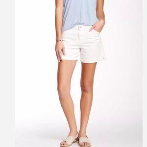 Calvin Klein High Rise White Denim Jean Shorts 12